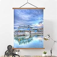 リビングルームの寝室の装飾の壁のアート印刷塗装吊り絵画ハンガー風景油絵、大人と子供の風景絵画、壁の芸術のぶら下がっている絵画壁のデコ C-30*40cm/12*18in