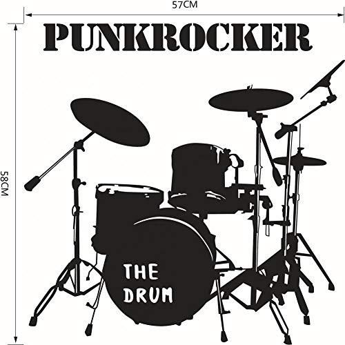 Fdit Drum Set Wandtattoo Kinderzimmer Musik Hintergrund Vinyl Aufkleber Home Decor