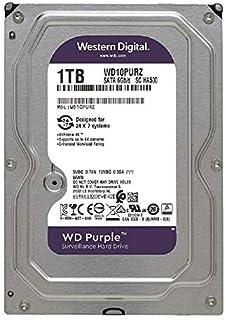 Western Digital WD Purple 1TB para videovigilancia - 3.5 pulgadas SATA 6 Gb/s disco duro con tecnología AllFrame 4K - 180T...