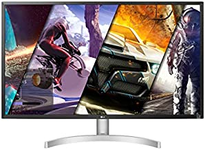 LG 32UL500-W 32 Inch UHD (3840 x 2160) VA Display with AMD FreeSync, DCI-P3 95% Color Gamut and HDR 10 Compatibility, Silver/White, Silve/White