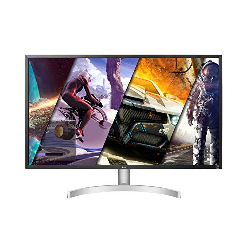 LG 32UL500-W 32 Inch UHD (3840 x 2160) VA Display with AMD FreeSync, DCI-P3 95% Color Gamut and HDR 10 Compatibility, Silver White, Silve White