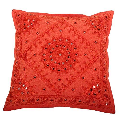 albena shop 72-110 Raja Couverture de Coussin Indien Brocart 40 x 40 cm Rose