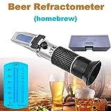 XFY Réfractomètre de Brix/Gravité Spécifique, Saccharimeter Handheld Testeur Outils, pour Tester du Jus, Boisson,Vin Rouge, Vin Blanc, Bierre, du Lait,du Miel