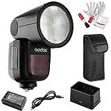 Godox V1-C Flash for Canon, 76Ws 2.4G TTL Round...