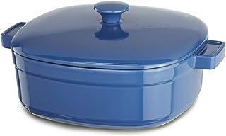 KitchenAid Streamline Cast Iron 6-Quart Casserole Cookware - Spring Blue