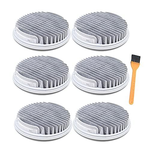 HNTYY Filtro HEPA FIT para XIAOMI Ajuste para ROIDMI NEX Limpiador de vacío sin Cable de Mano Piezas NEX X20 X30 S2 F8 Storm Pro Piezas de aspiradora (Color : 6pcs)