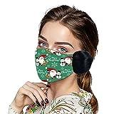 1 Pieza m_ascarilla Tela Mujer con Orejeras de Felpa cálido y Confortable impresión de Navidad Anti Smog