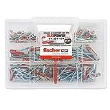 Fischer kit dUOPOWER, 80chevilles universelles avec vis, pour fixation sur brique mur plein, percé, plâtre et béton cellulaire, 544546