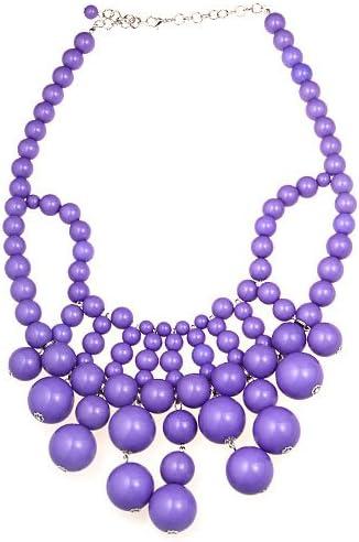 WIIPU HUGE purple acrylic beads links Necklace Bubblegum Bauble Bib necklace(WIIPU-A121)
