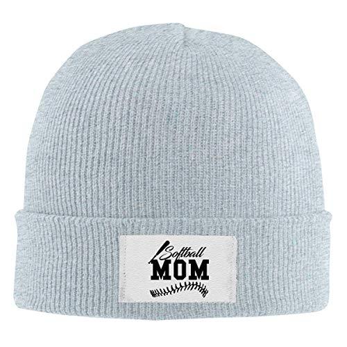 Lawenp Gorros de punto Beanie Gorro de calavera Softbol Mom Winter Warm Hat para hombres y mujeres