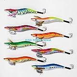 釣り具 蛸タコ釣り 4.0号 エギ 8カラー 8本 セット A20TK40h8A エギング 仕掛け タコエギ