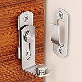 盗難防止控除 ドアロックをスライディング90度のバックルシフト安全ツールプッシュとステンレス鋼ホームキャビネットラッチホテルチェーンボタンを引きます KYENUI (Size : 201)