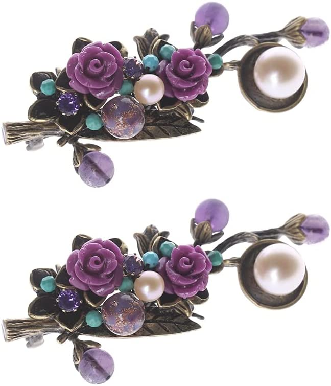 Purple Flower Brooches Pins for Je Pearl Women Brooch Max 58% OFF Vintage 2021 spring and summer new