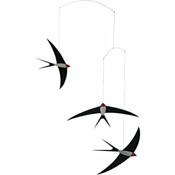 3 Swallow Hanging Mobile - 20 Inches - Handmade in Denmark by Flensted