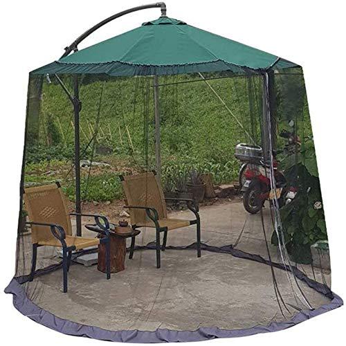 BCXGS Mosquitera para Sombrilla con Cremallera, Mosquitera para Sombrilla De Patio, Portátil Grande Y Redondo Mosquitero, para Acampar En El Patio, 300x230cm