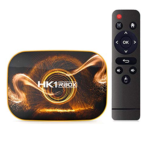 HK1 RBOX Android 9.0 Smart TV Box 4GB 64GB 32GB Rockchip Rk3318 1080p H.265 5g WiFi 4K Google Player Store Set YouTube Set Top Box(Color:2GB+16GB)