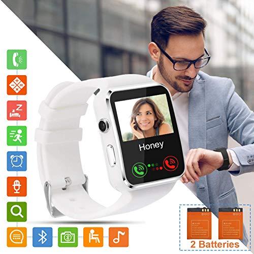 smartwatch sim Smartwatch Orologio Fitness Uomo Donna Bambini Smart Watch con SIM Card Slot Touch Screen Camera Orologio Contapassi e Calorie da Polso Sportivo Fitness Tracker per Samsung Huawei Xiaomi Android ios