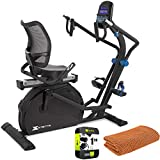 XTERRA Fitness 115518 RSX1500 Seated Stepper Bundle with 1 Year Extended Protection Plan and Deco Gear Workout Cooling Sport Towel