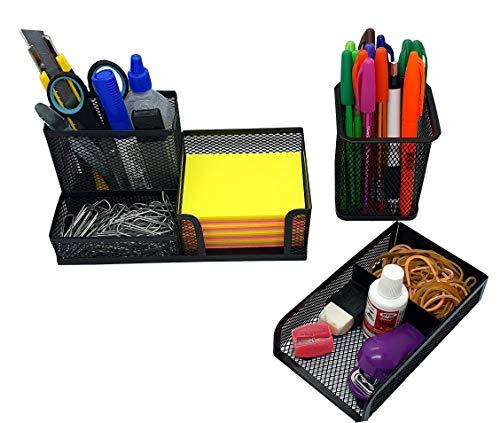 Kit Organizador para Mesa de Escritório Porta trecos e Porta Lápis