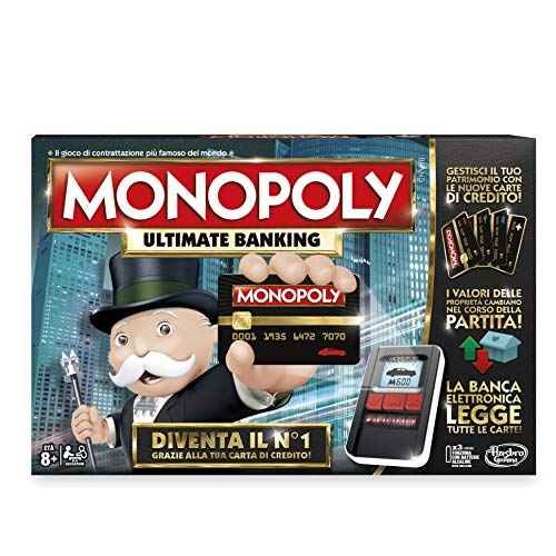 Hasbro Monopoly- Ultimate Banking, Single, Multicolore, B6677103