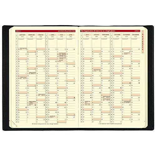 クオバディス2021年版12月始ビジネスプレステージクラブブラックqv28502bk