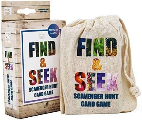 Hapinest Find and Seek Scavenger Hunt Outdoor Indoor Card Game for Kids product image