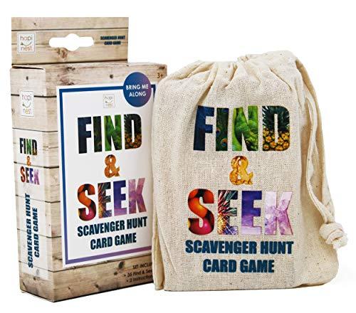 Hapinest Find and Seek Scavenger Hunt Outdoor Indoor Card Game for Kids