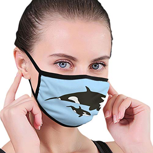 Mom and Baby Orca Fashion Washable Breathable Reusable for Women Balaclava Face Mask Black
