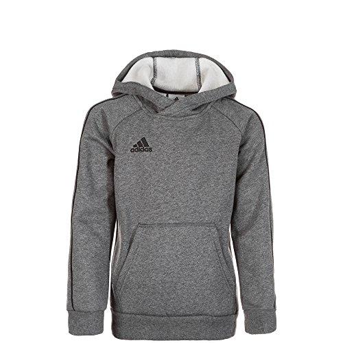 adidas CORE18 Hoody Y, Maglia di Tuta Unisex-Bambini, Grigio (Dark Grey Heather/Black), 16 Anni