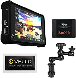 Atomos Shogun Inferno | 7 Inch Touchscreen Recording Camera Monitor Bundle with SanDisk 240GB Ultra II Internal Solid State Drive + Pearstone 7.5