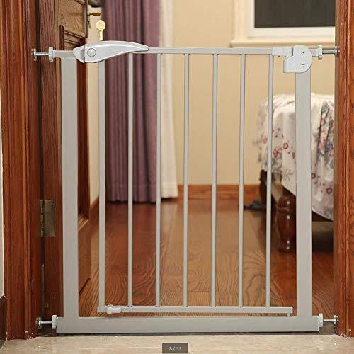 Bébé Barrière De Sécurité Porte 57-64cm (Largeur) Stairway Clôture Easy Lock Réglable Portes Bébé for Porte Ways Clôture Enfant Pet Clôture Gratuit Punching (Color : Gray, Size : Height: 76cm)