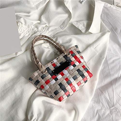 FastDirect Estate piccola borsa 2020 cestino vegetale borsa di moda selvaggia tessuta femminile borsa a tracolla Beige