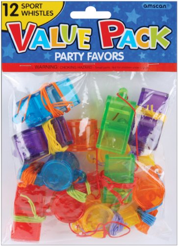 Best Bargain Amscan 390191 Sports Whistles, Party Favor | Pack of 12
