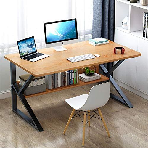 QFWM Escritorio de ordenador para el hogar, escritorio simple para estudiantes, escritorio de aprendizaje de dormitorio, escritorio para ordenador portátil (tamaño: 20 x 150 x 180 cm, color: madera)