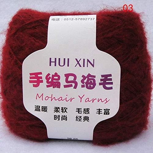 LY Retail 100g/palla pettinato morbido sottile Mohair filato peluche lana cashmere filato a mano uncinetto filo fai da te scialle sciarpa filato 3