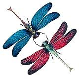 Yisheng Metal Dragonfly Garden Art Decorations, Outdoor Hanging Wall Decor Sculptures for Home Garden Yard