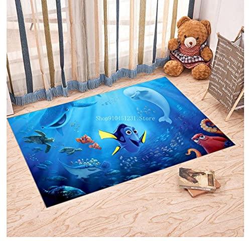 VVEDesign Tappeto alla Ricerca di Nemo Dory Tappeto Anime Tappeto Soggiorno Tappeti Tappeti Stampa 3D Tappeti Cucina Bambini Ragazzi Camera da Letto Porta Tappetino 120X160 Cm