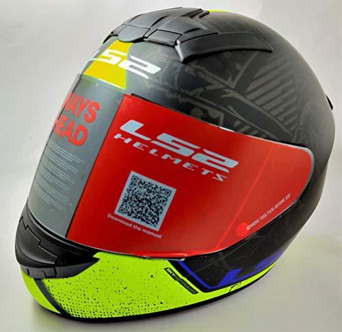 LS2 Helmets - FF352 Rookie - Street - Matt Black Yellow - Single Mercury Visor Full Face Helmet - (Large - 580 MM)