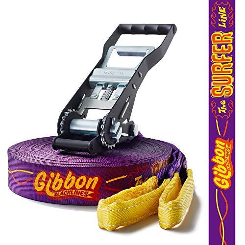 Gibbon Slacklines Surfer Line   30 meter (27,5 m tape + 2,5 m rateltape)   Jumpline & Trickline