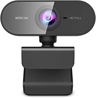 Webcam with Microphone,KFF Full HD 1080P USB Web Cam Wide Angle PC/MAC/Laptop Live Streaming Camera for Skype,YouTube,Zoom,Xbox One,Video Calling,Online Studying and Conference