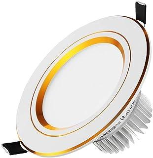 Downlight LED de 3W de bajo consumo de energía Luces empotradas de borde dorado hermoso de lujo Lámpara de techo empotrada de aluminio duradero Sin lámpara de techo interior estroboscópica iDWX