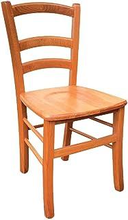 Silla modelo Venezia con asiento de madera maciza cerezo
