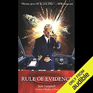 Rule of Evidence     JAG in Space, Book 3              Written by:                                                                                                                                 Jack Campbell                               Narrated by:                                                                                                                                 Nick Sullivan,                                                                                        Jack Campbell                      Length: 10 hrs and 48 mins     1 rating     Overall 5.0