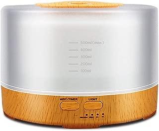 YYHSND Wood Grain Essential Oil Diffuser 24V Remote Control, 500ml Ultrasonic Air Humidifier, White, 115160mm humidifier