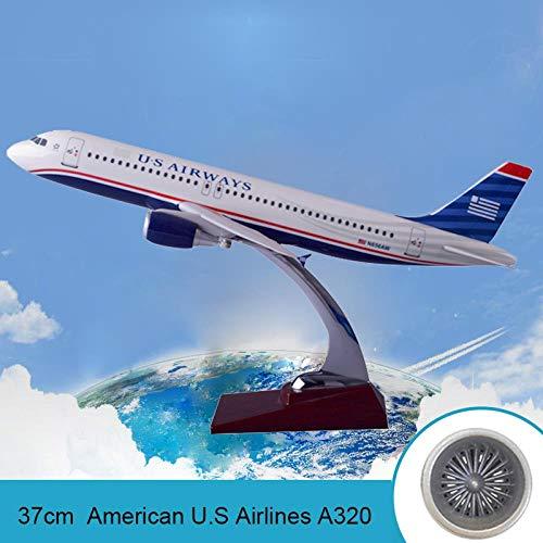 BOBO Modelo de avión de Resina de 37 cm A320 American Airlines American Airlines American Airlines A320 Airbus