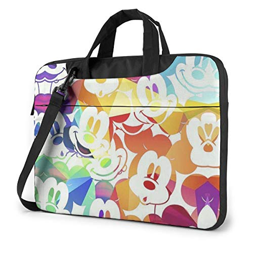 13 Inch Laptop Bag Cool Mickey Mouse Laptop Briefcase Shoulder Messenger Bag Case Sleeve