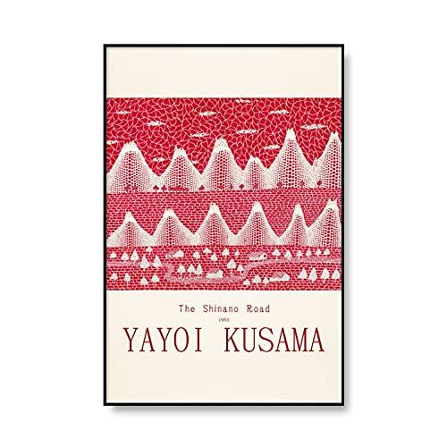 Famoso artista Yayoi Kusama póster de exposición impresiones abstractas y póster arte cuadros de pared pinturas de lienzo sin marco A2 70x100cm