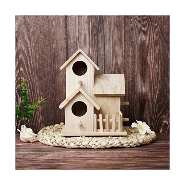 DFVVR Nesting Box Bird House Novelty Bird Nesting Box Garden Decorations | Bird Box Wooden Box Nest | Wooden House Resting Place for Birds Pink