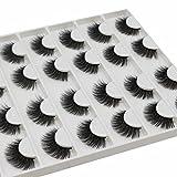 Vayator 16 Pairs Mink Eyelashes Natural False Eyelashes Lashes Soft Fake Eyelashes Extension Makeup Wholesale (D050)