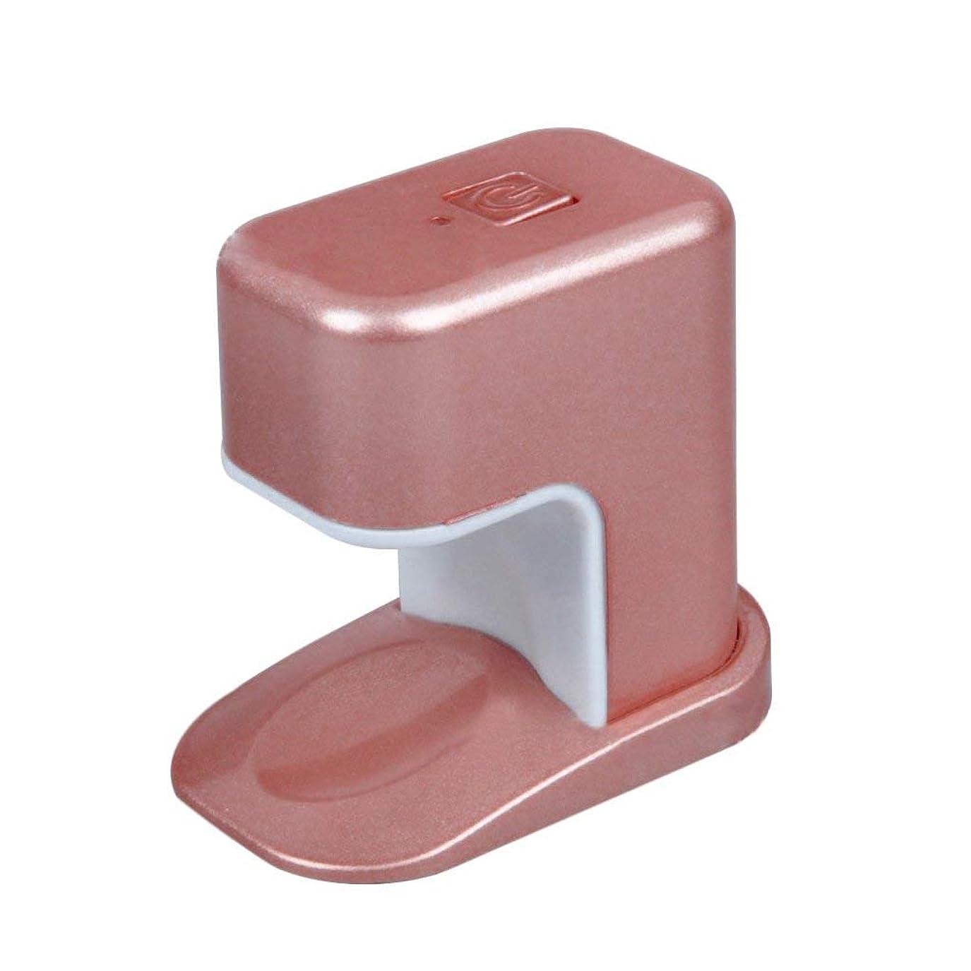 リングレットホール火傷Paick ネイルドライヤー 3W LED電球 USBケーブル UV マニキュアドライヤー ニポータブル単一指ネイルアートのLED 3色選べ - ピンク